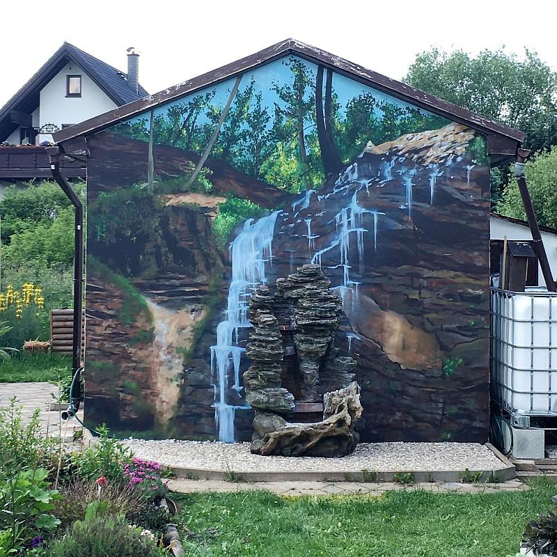 Fassade Gartenhaus